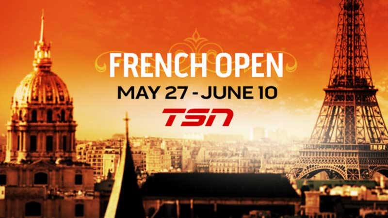 French Open, TSN to Air French Open Tennis Exclusively Live, News on News, News on News