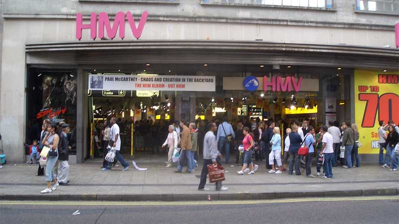 HMV Collapses for Second Time in Six Years