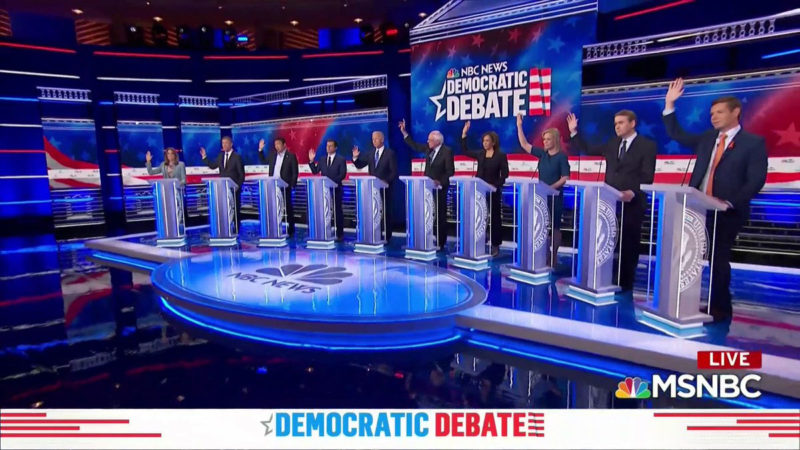 Second Night of Democrats Debating Makes TV History