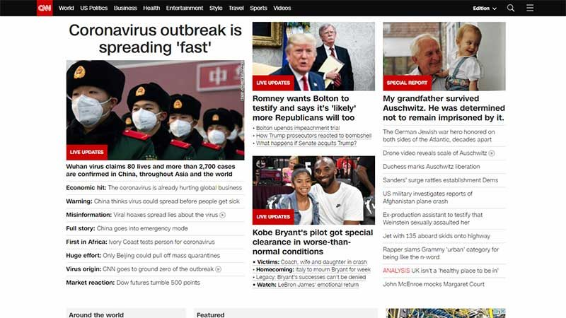 Coronavirus: CNN.com Sees Largest Audience in its History