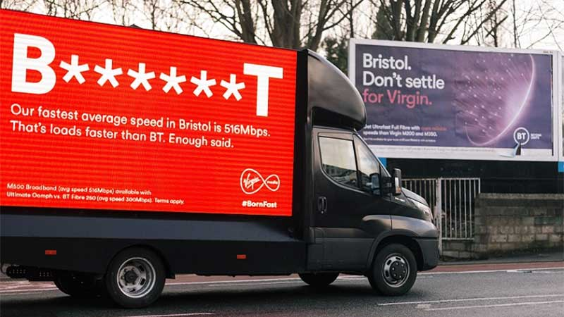 Virgin Media & BT in Bitter Bristol Advert Row