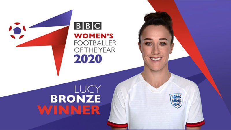 Lucy Bronze Wins BBC Women's Footballer of the Year 2020