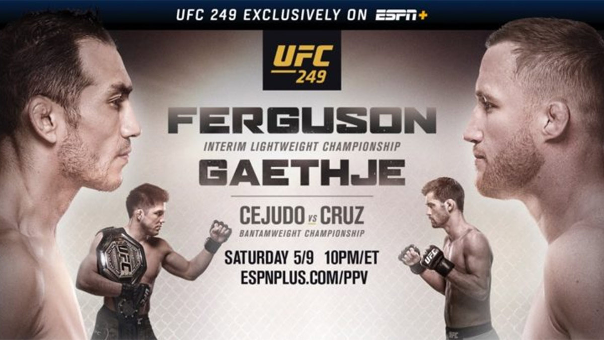 ESPN+ to Exclusively Air Ferguson vs Gaethje UFC Bout