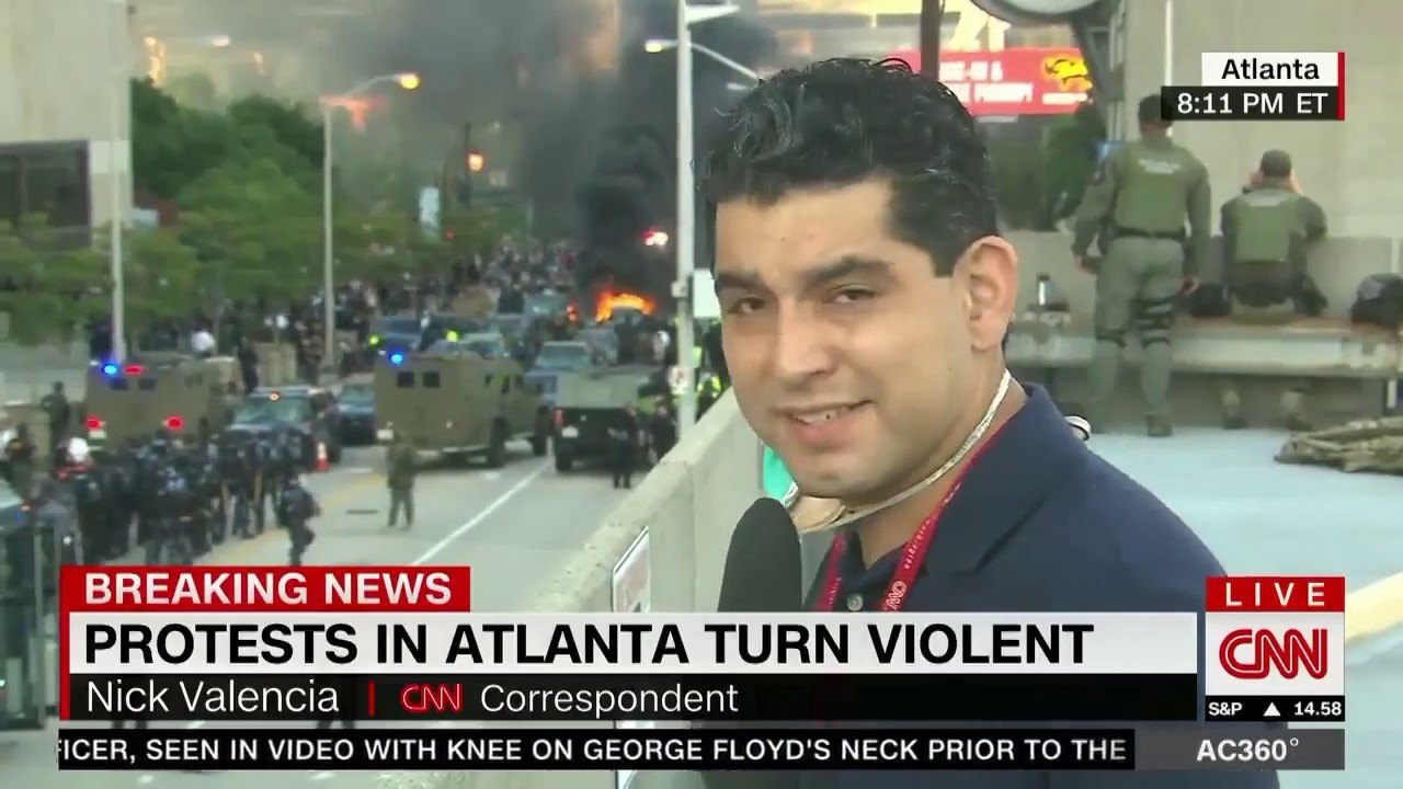 CNN Center Attacked by Rioters